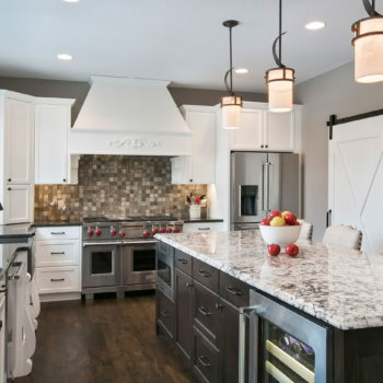 Twin Cities kitchen with island.